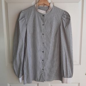 Michael Kors Puff Sleeve Button Down Top Size 2